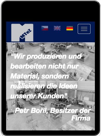 German version of website